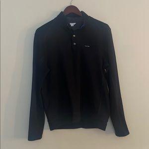 Men's Calvin Klein Black Snap Pullover Small